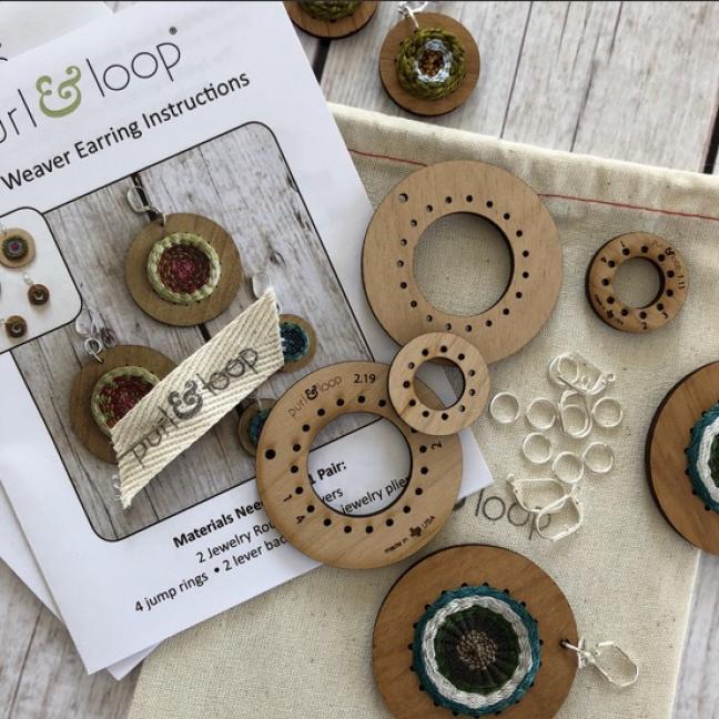 Purl & Loop Kit tissage boucles d'oreilles 2,5cm