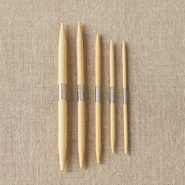 CocoKnits aiguilles à torsades double pointes en bambou  Mix