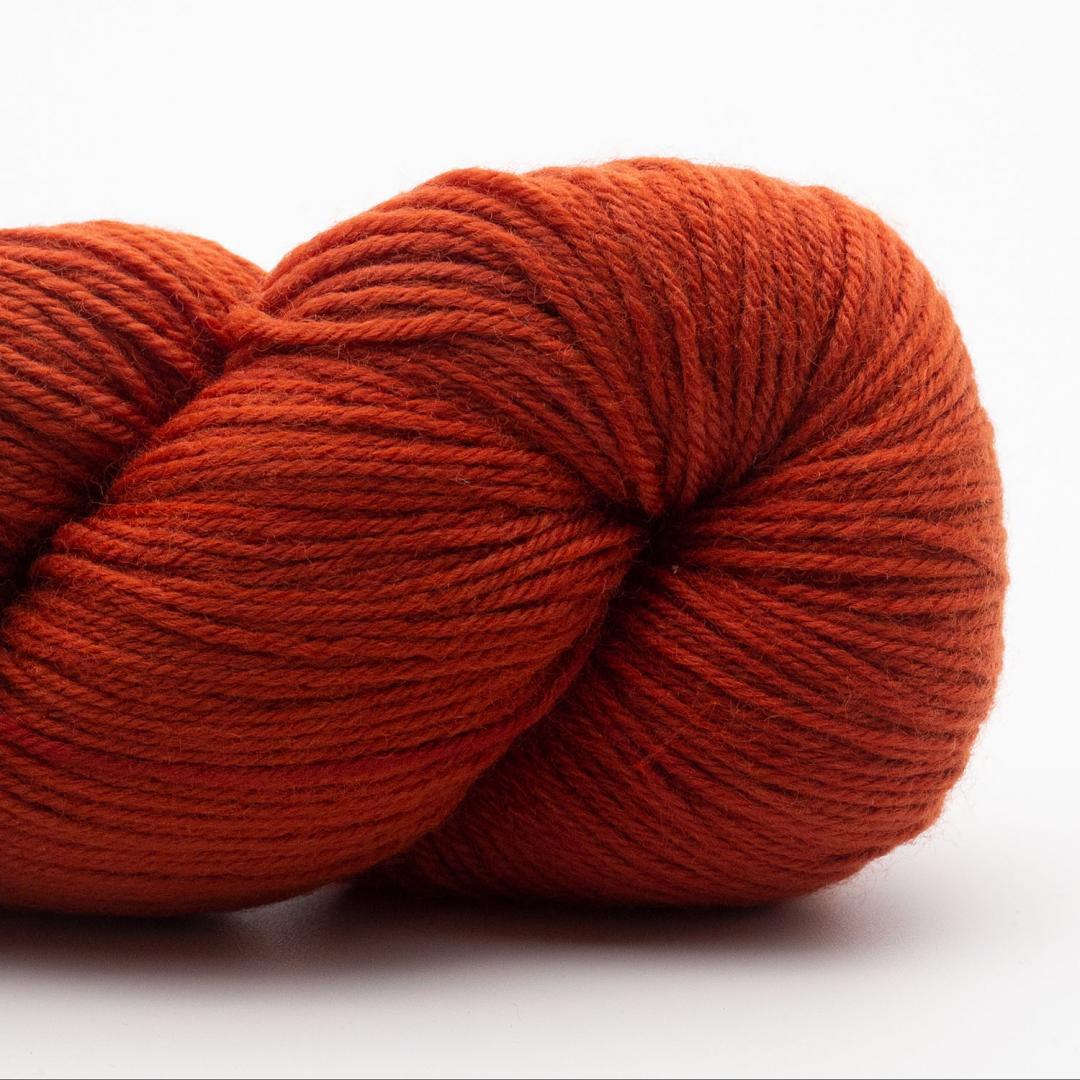 Kremke Soul Wool Lazy Lion, laine à chaussette, faux uni Burnt Orange