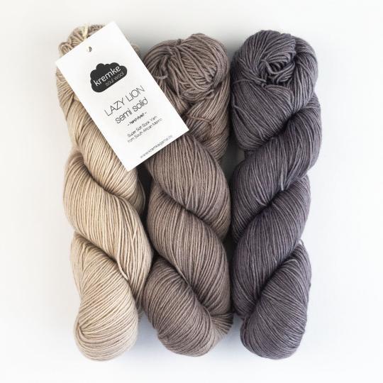 Kremke Soul Wool Lazy Lion, laine à chaussette, faux uni