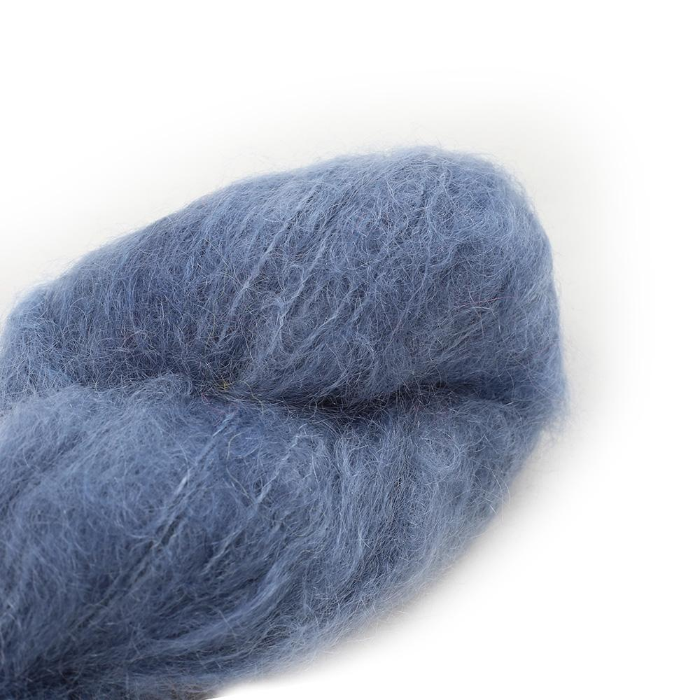 Cowgirl Blues Fluffy Mohair Unie 100g 01-Airforce