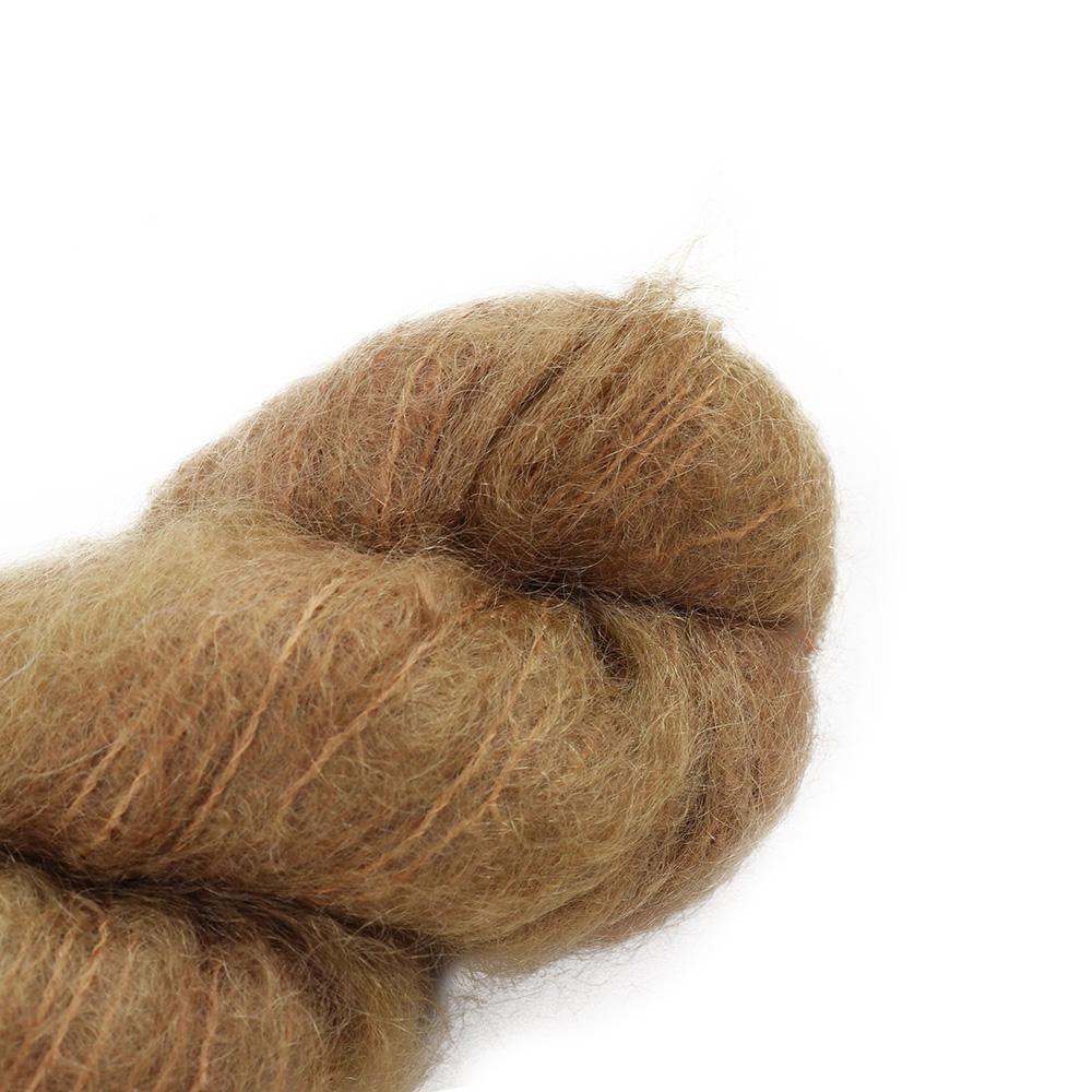Cowgirl Blues Fluffy Mohair Unie 100g 39-Camel
