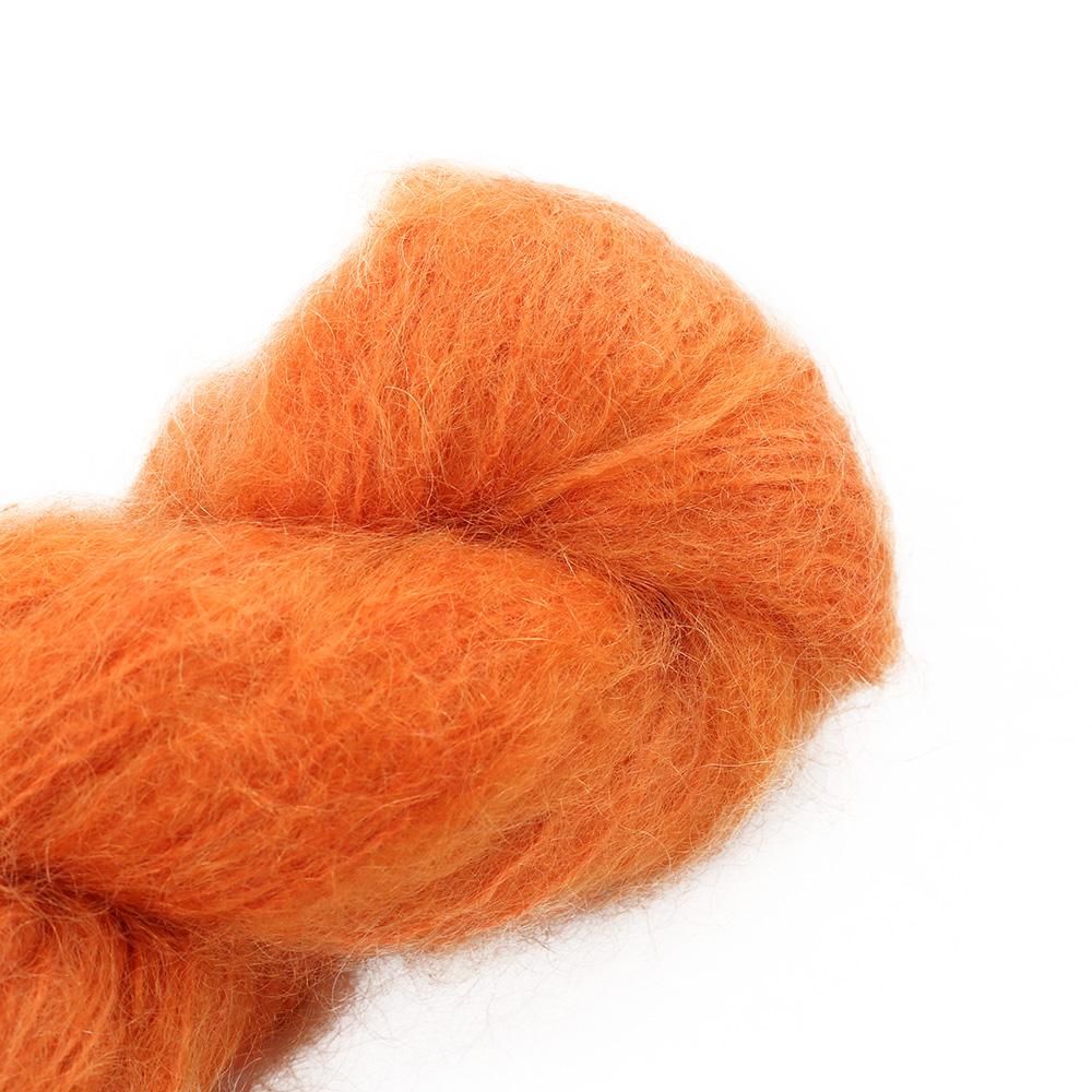 Cowgirl Blues Fluffy Mohair Unie 100g 42-Carrot Juice