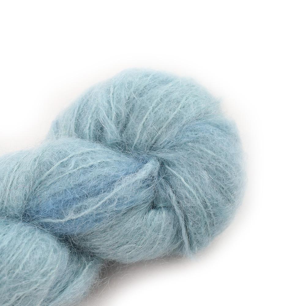 Cowgirl Blues Fluffy Mohair Unie 100g 37-Celadon
