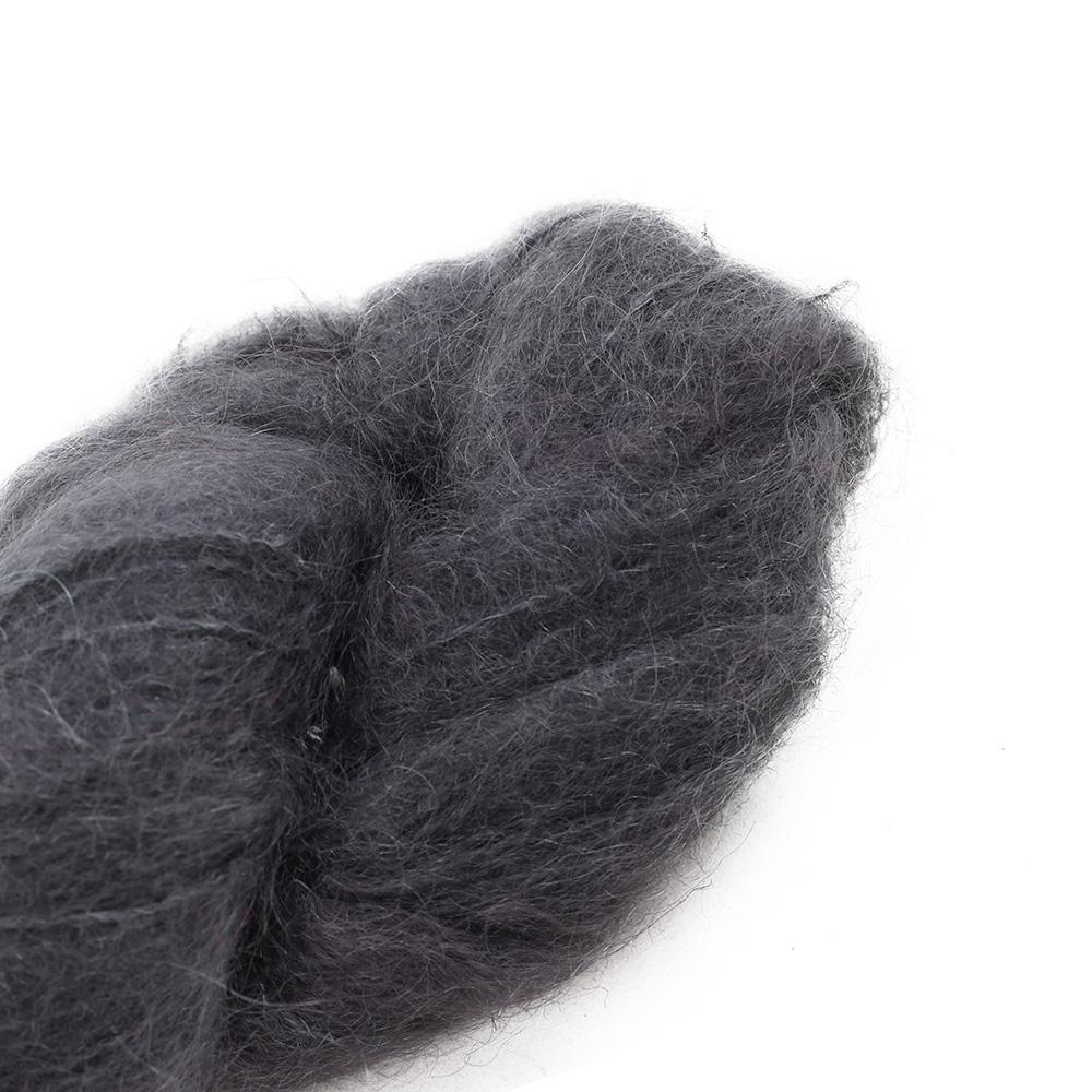 Cowgirl Blues Fluffy Mohair Unie 100g 02-Charcoal