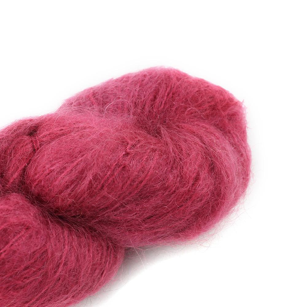 Cowgirl Blues Fluffy Mohair Unie 100g 24-Dusty Rose