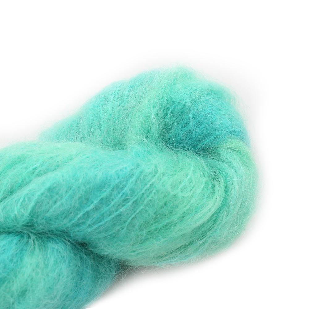 Cowgirl Blues Fluffy Mohair Unie 100g 15-Emerald