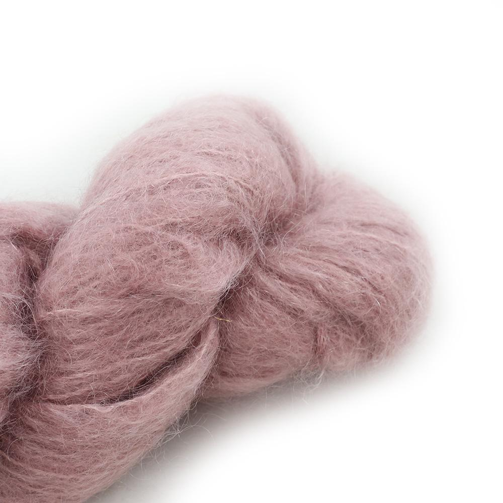 Cowgirl Blues Fluffy Mohair Unie 100g 25-Faded Rose