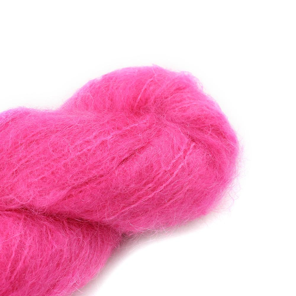 Cowgirl Blues Fluffy Mohair Unie 100g 32-Hot Pink