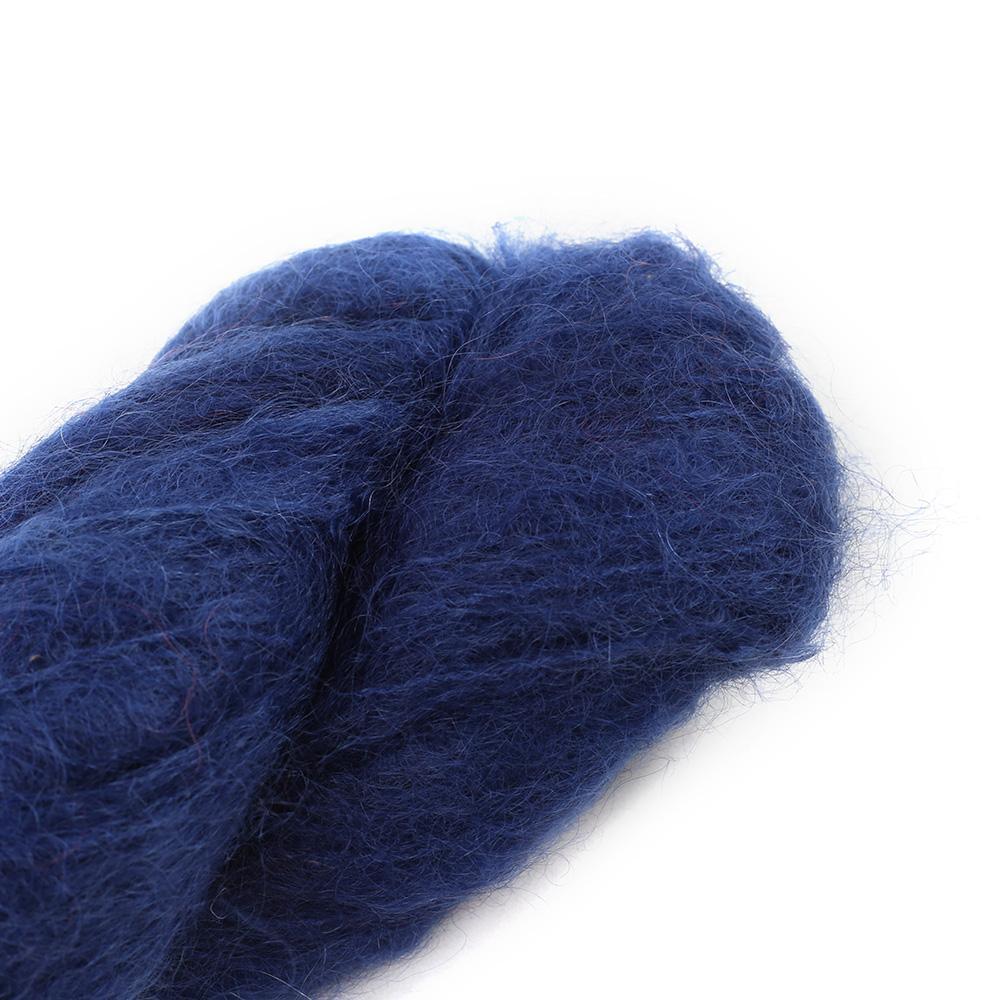 Cowgirl Blues Fluffy Mohair Unie 100g 36-Indigo