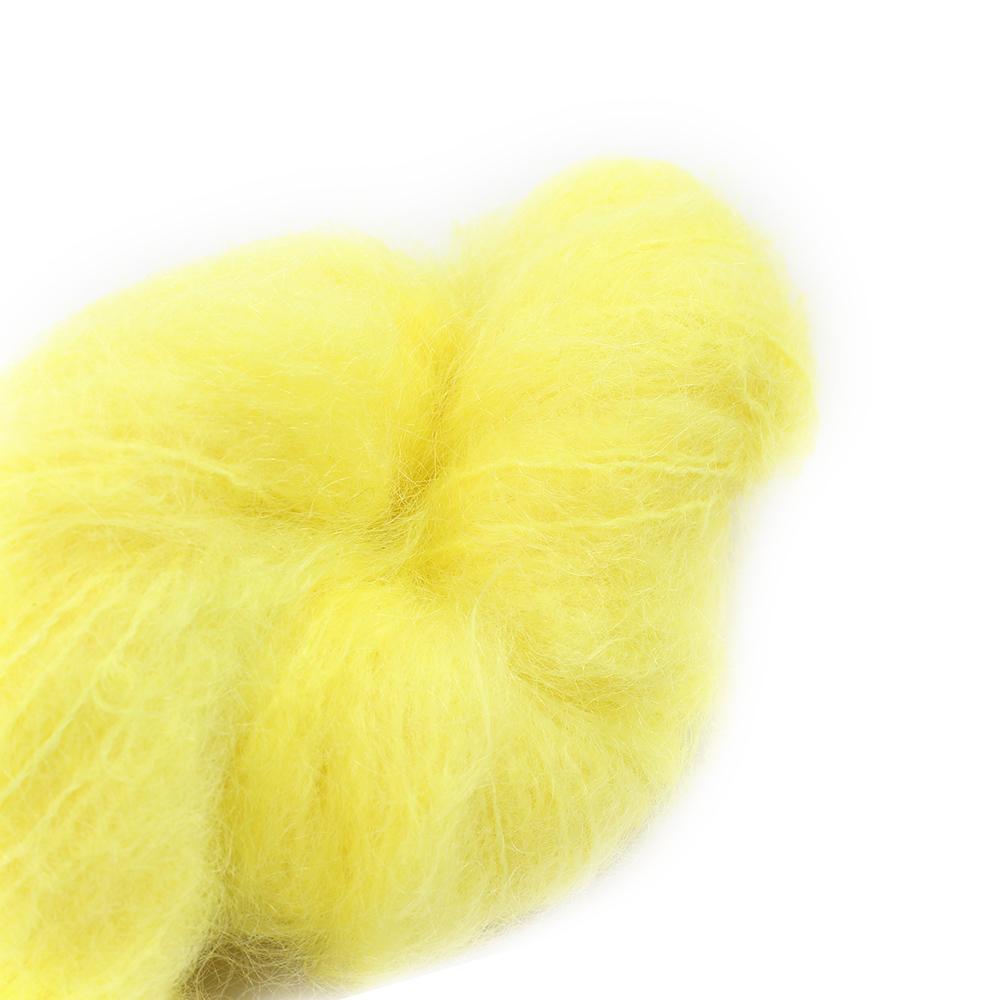 Cowgirl Blues Fluffy Mohair Unie 100g 43-Lemon