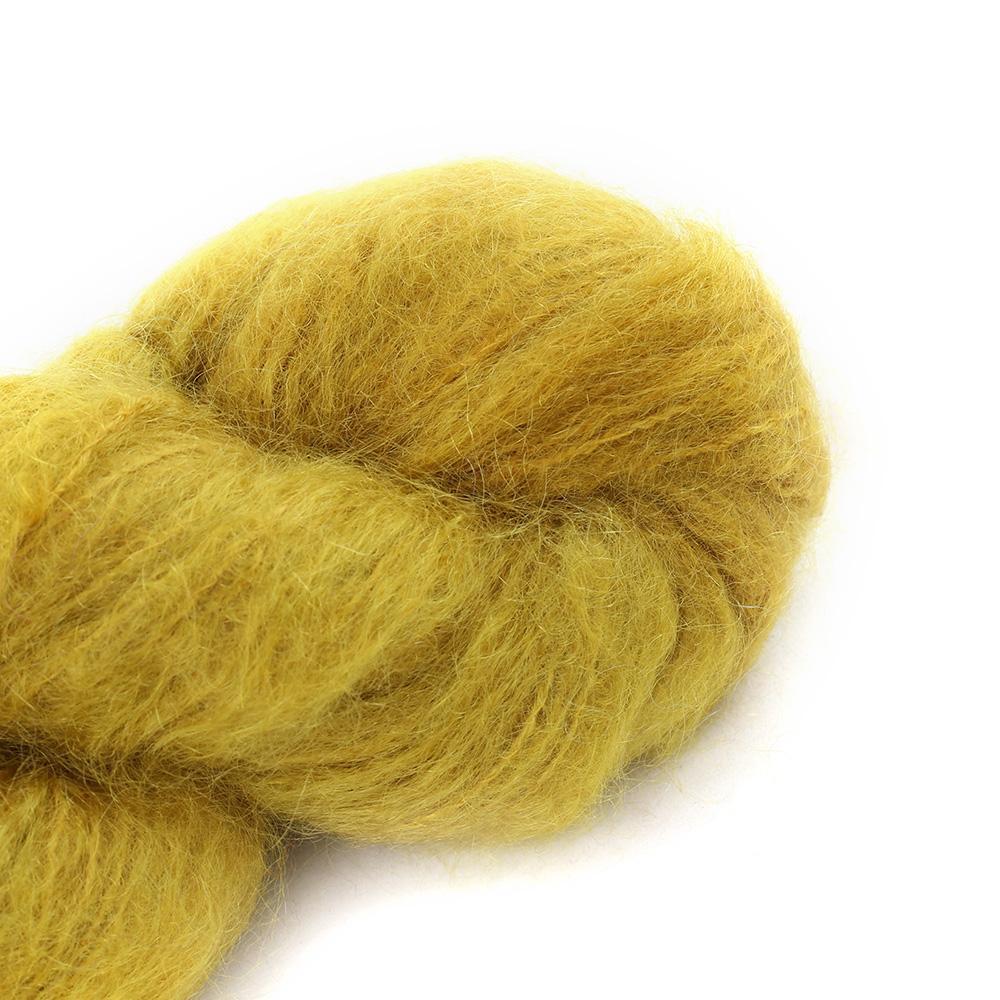 Cowgirl Blues Fluffy Mohair Unie 100g 09-Mustard