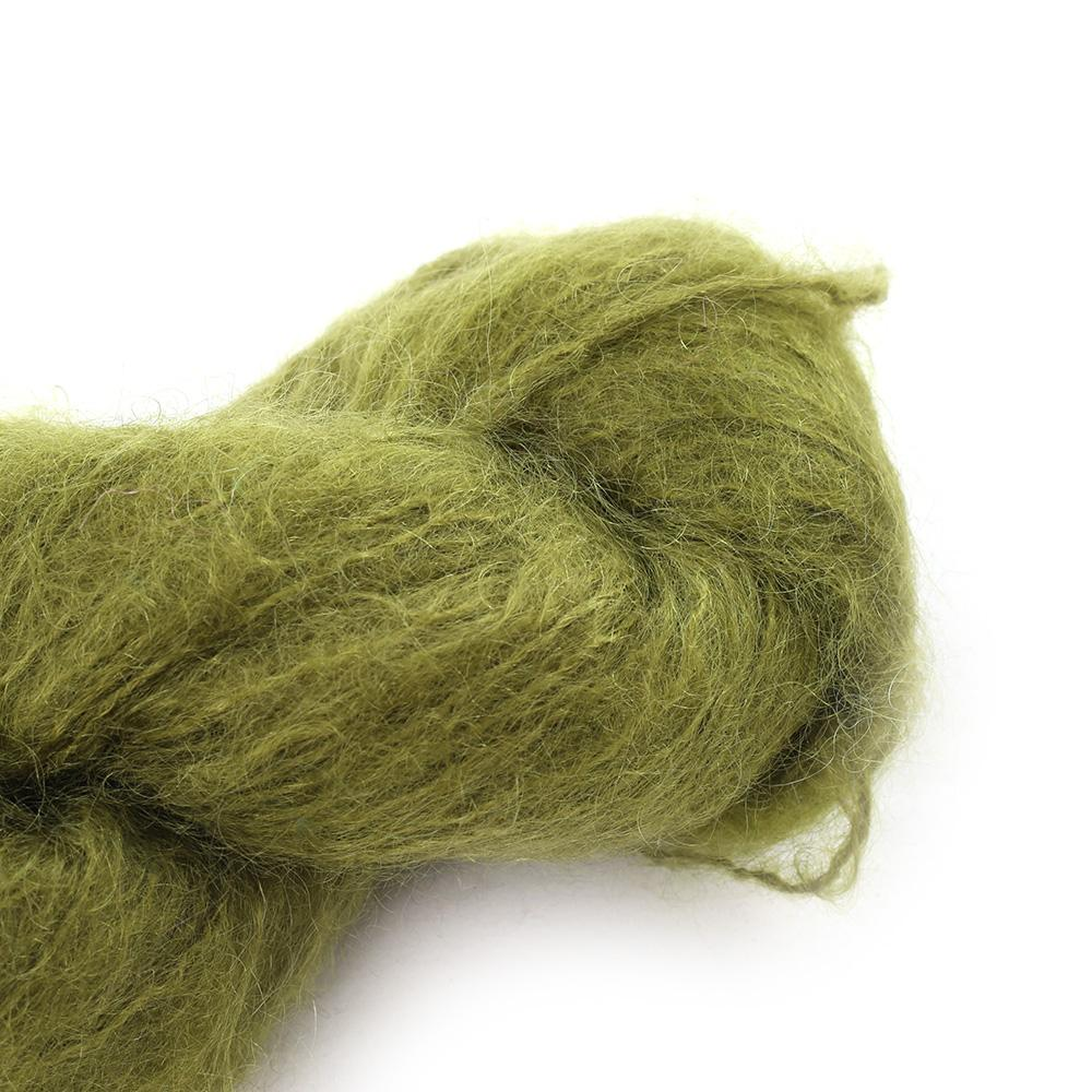Cowgirl Blues Fluffy Mohair Unie 100g 11-Olive