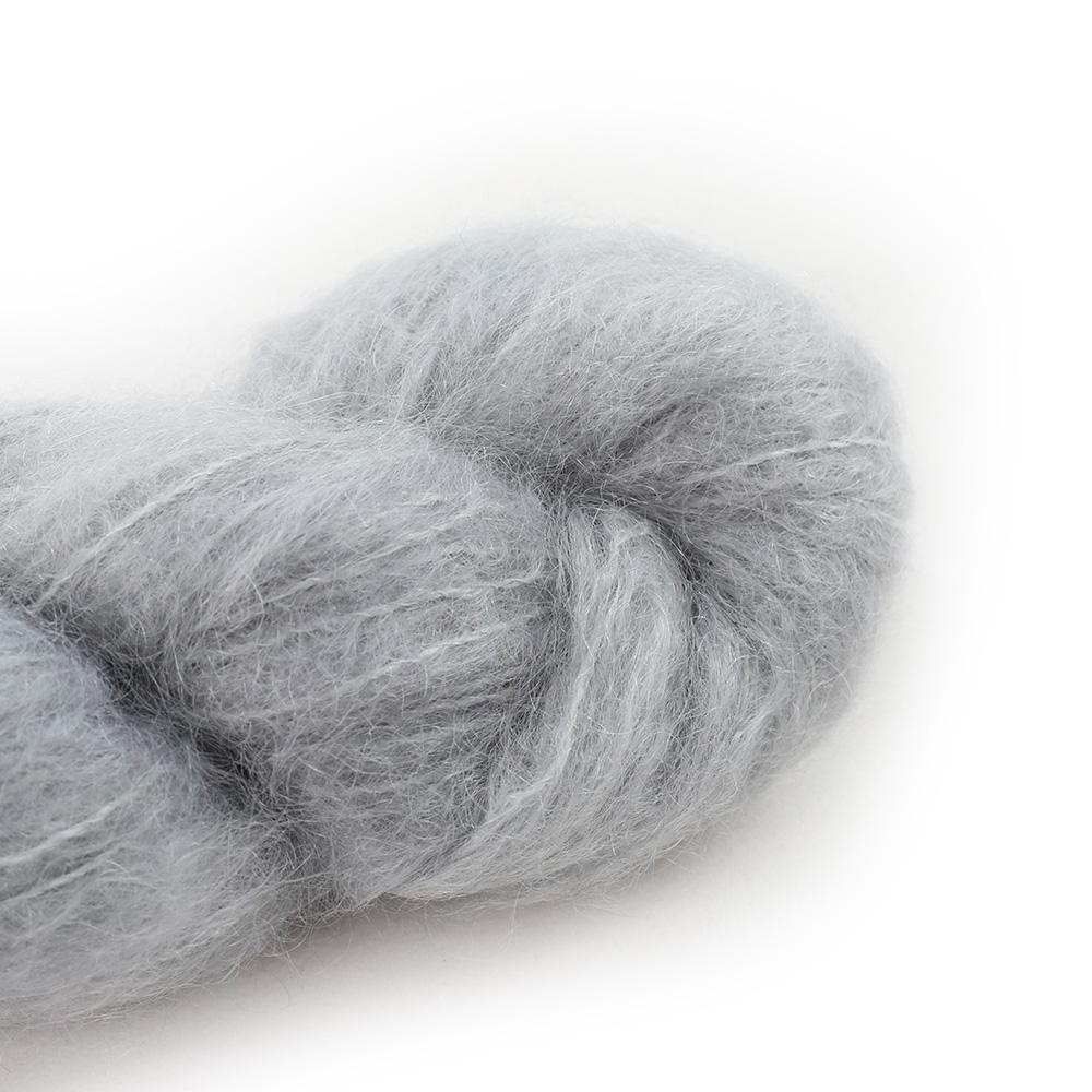 Cowgirl Blues Fluffy Mohair Unie 100g 03-Silver Fox