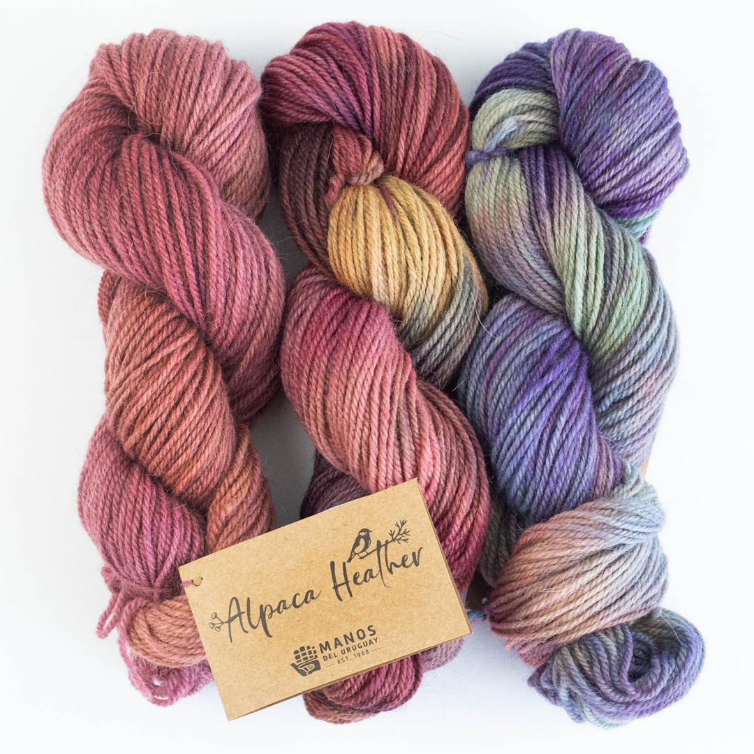 Manos del Uruguay Alpaca heather Gradient  Malbec