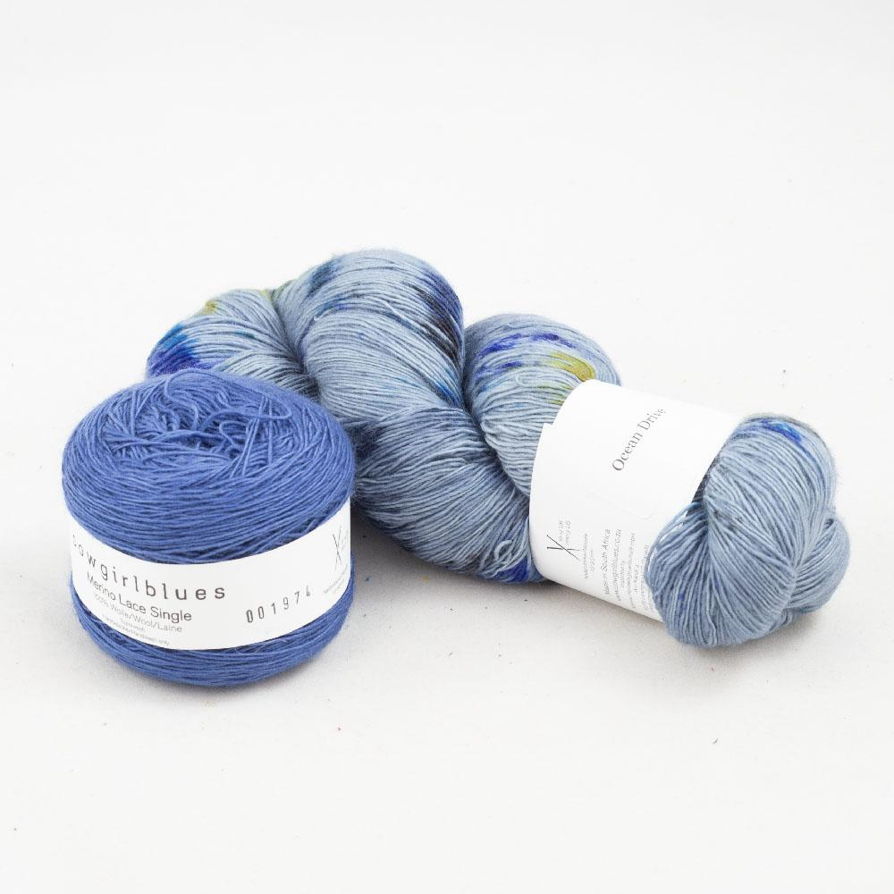 Cowgirl Blues Merino Single Lace Garnpaket 150g