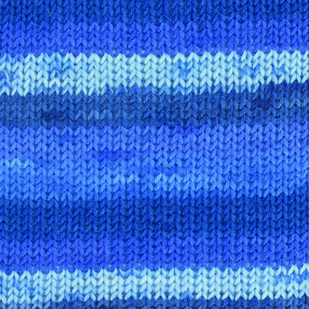 Kremke Soul Wool Edelweiss 50 Blue stripes