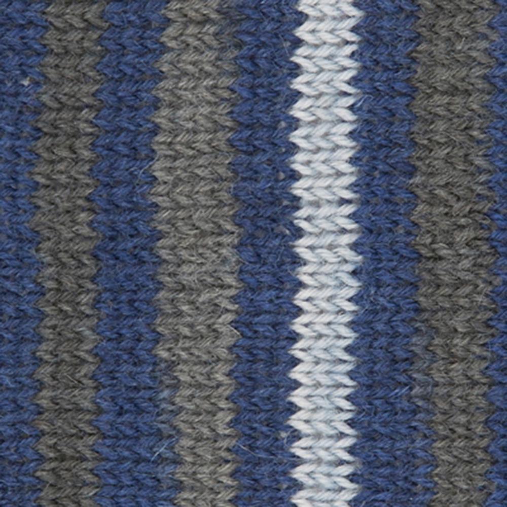 Kremke Soul Wool Edelweiss 4ply 100 Navy Grey striped