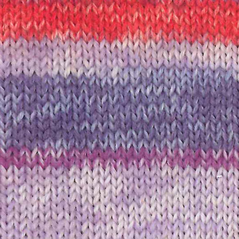 Kremke Soul Wool Edelweiss 6ply 150 Lilac with red
