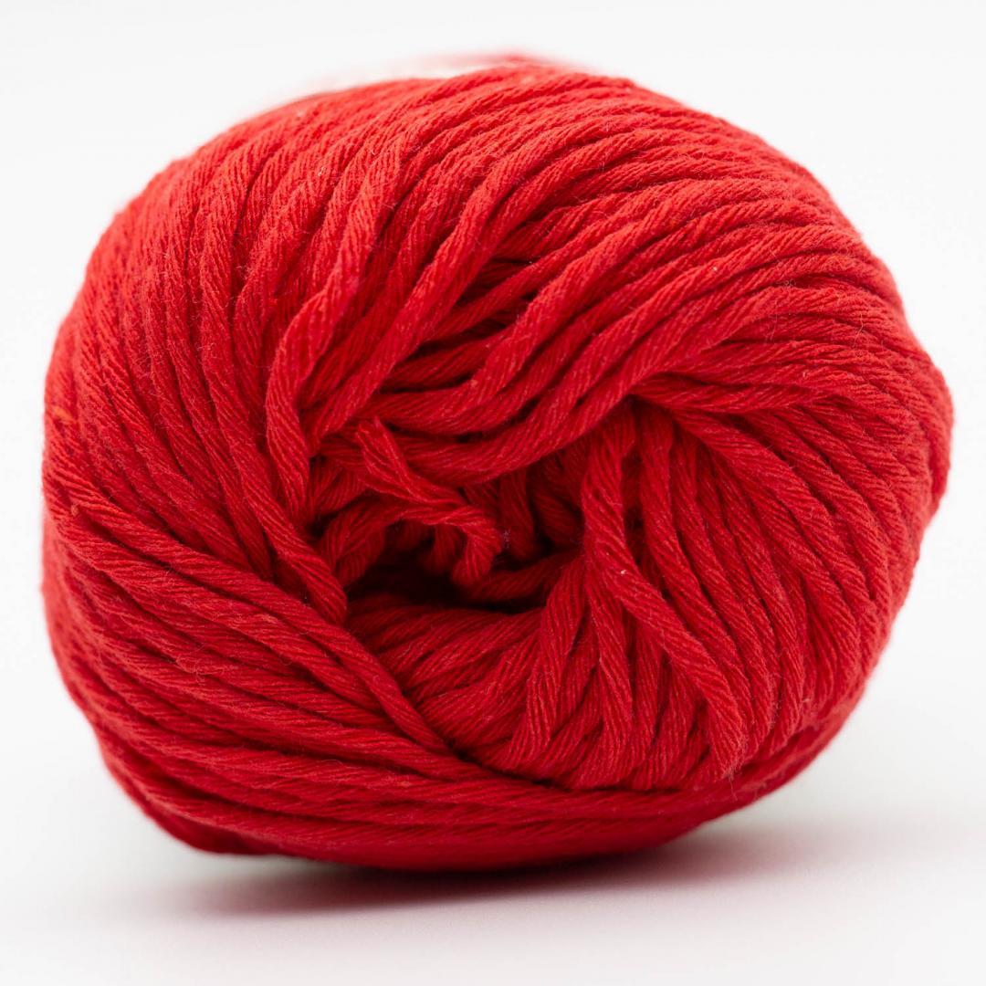 Kremke Soul Wool Karma Cotton, coton recyclé Cherry Red