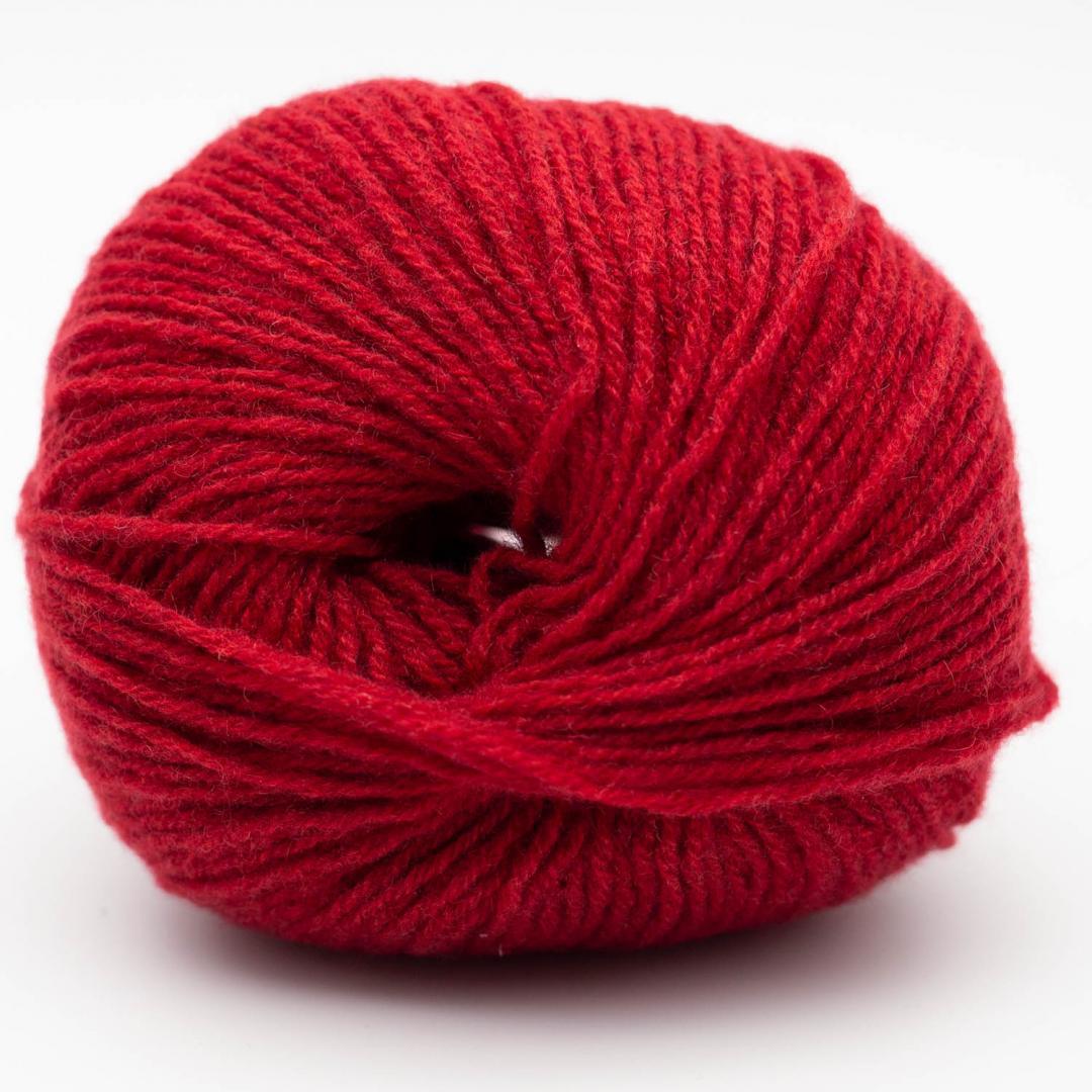 Kremke Soul Wool Eco Cashmere fingering 25g Kirschrot