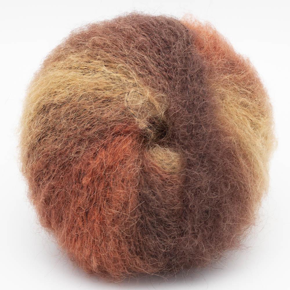 Kremke Soul Wool Baby Silk Fluffy multicolore Rostbraun