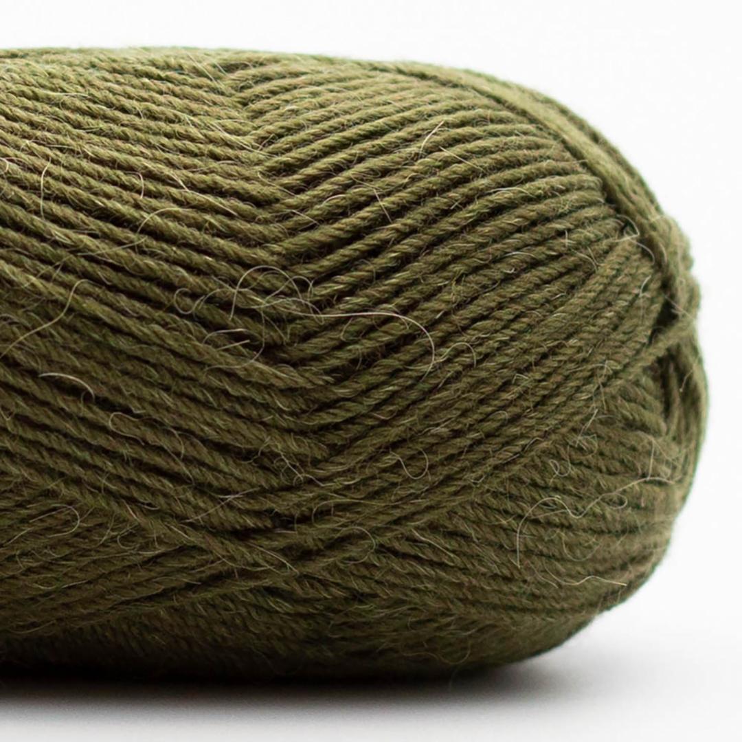Kremke Soul Wool Edelweiss Alpaka 4-ply 25g Dunkeloliv