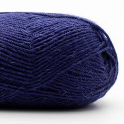 Kremke Soul Wool Edelweiss Alpaka 4-ply 25g Blau-Schwarz