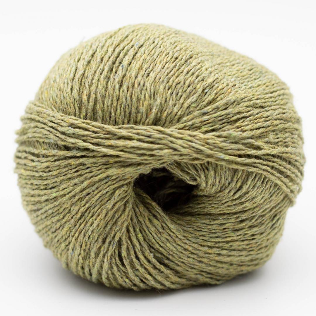 Kremke Soul Wool Reborn Denim Uni Messinggrün