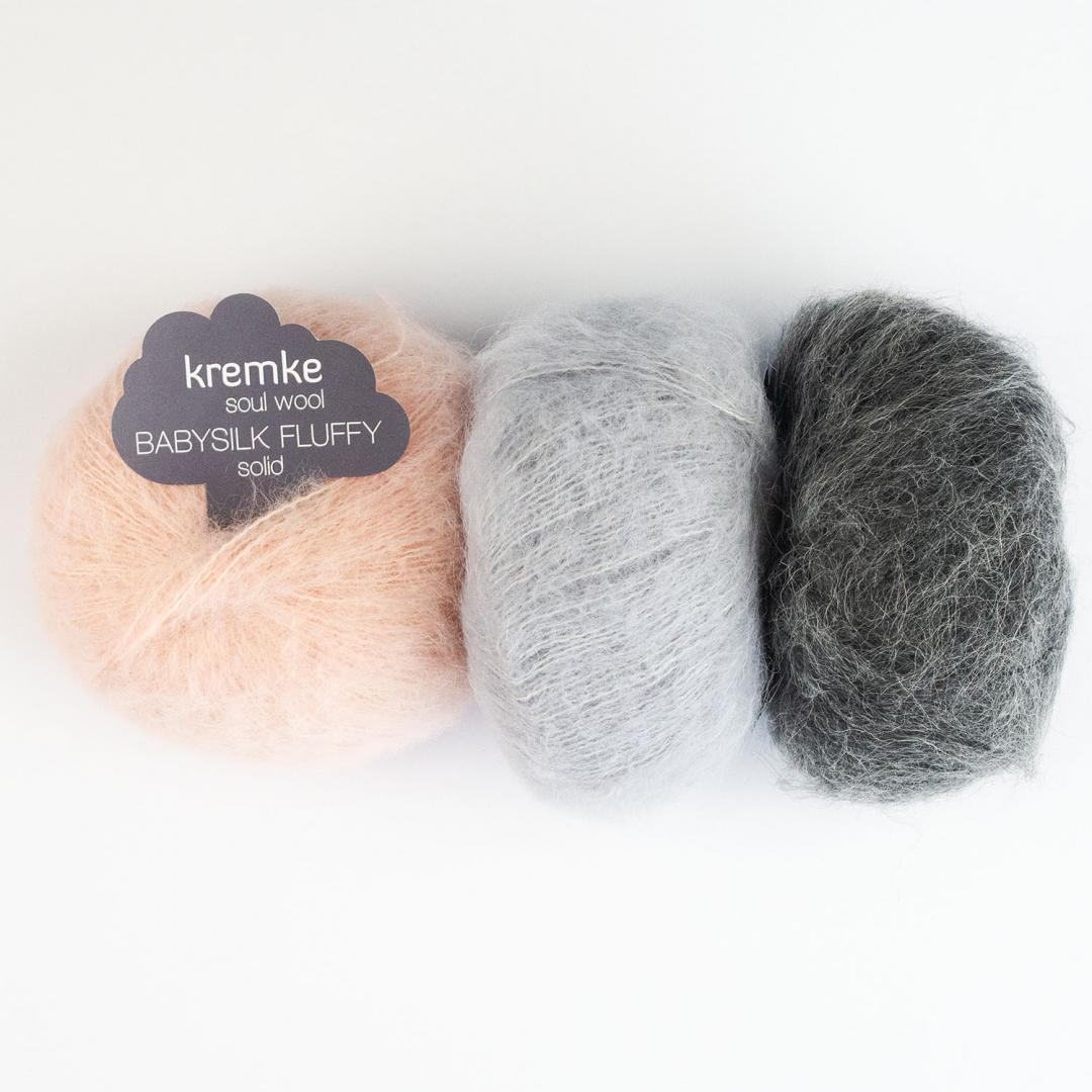 Kremke Soul Wool Baby Silk Fluffy uni  White