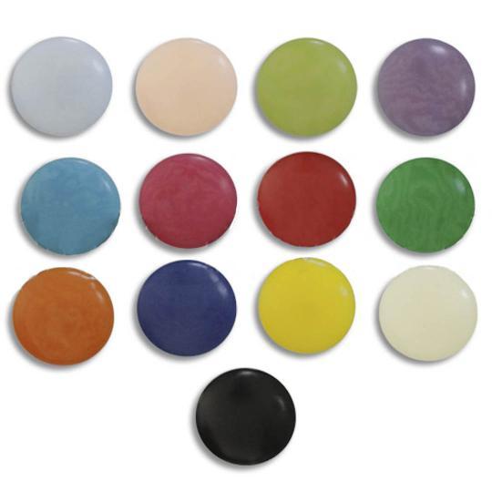 Jim Knopf Boutons colorés en corozo, 11mm
