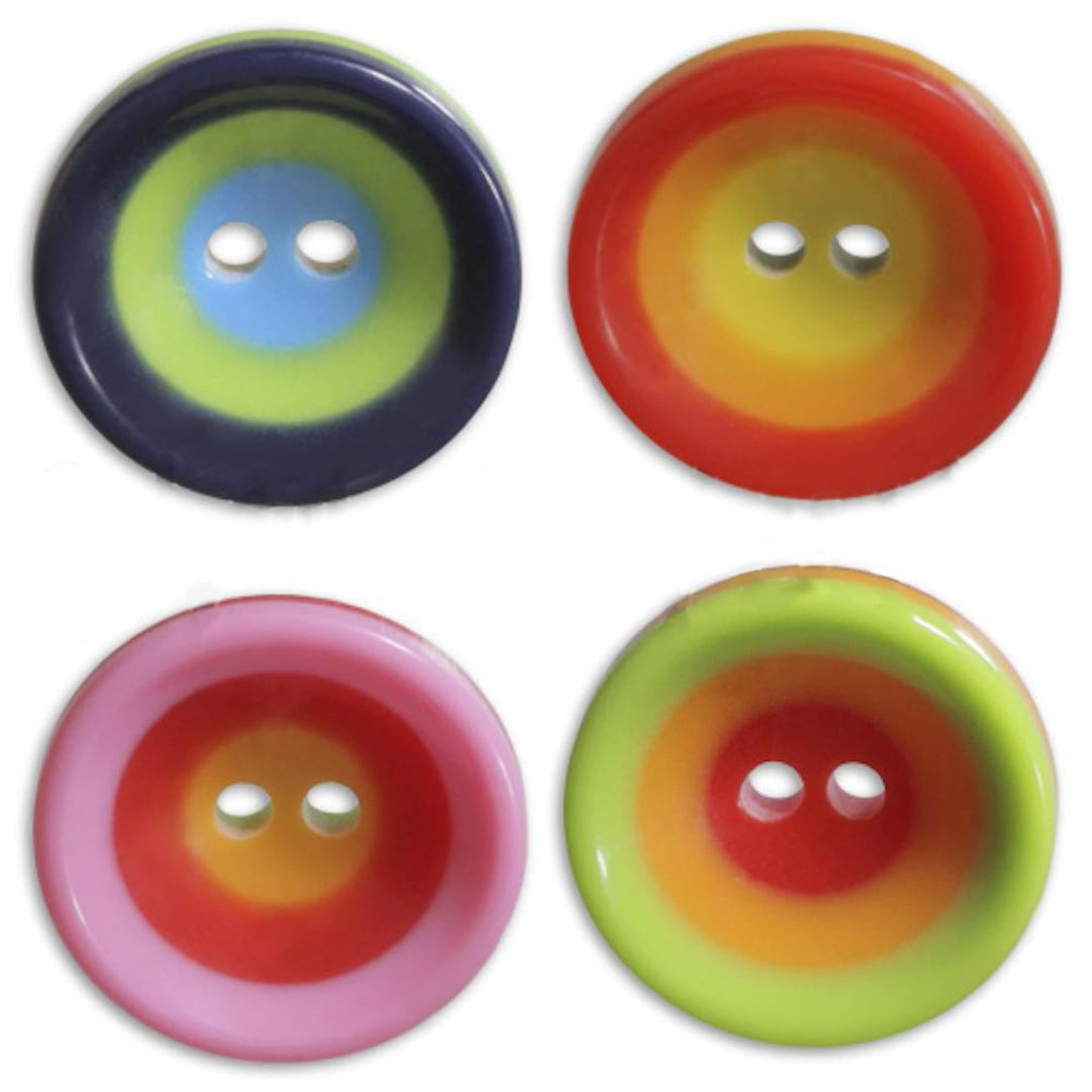 Jim Knopf Boutons cercles colorés, 16mm