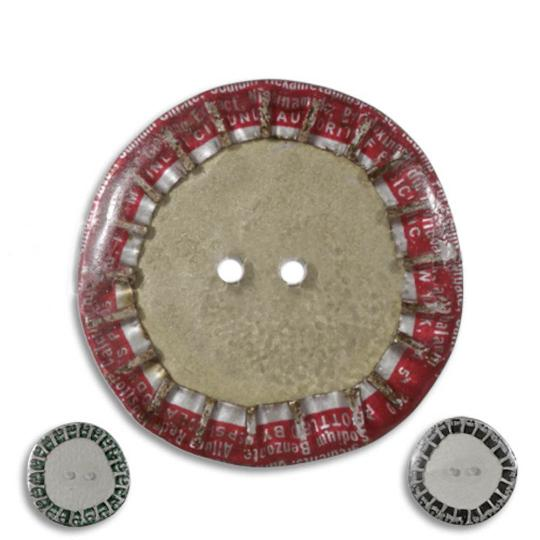 Jim Knopf Bouton, capsules recyclées 28mm