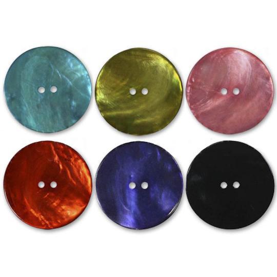 Jim Knopf Boutons nacre plusieurs couleurs plusieurs tailles