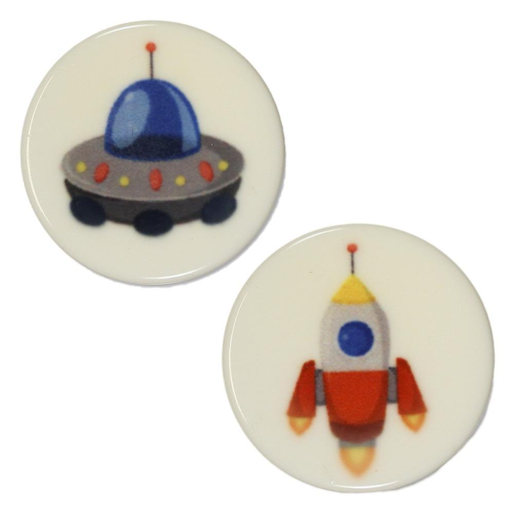 Jim Knopf bouton plastique soucoupe volante
