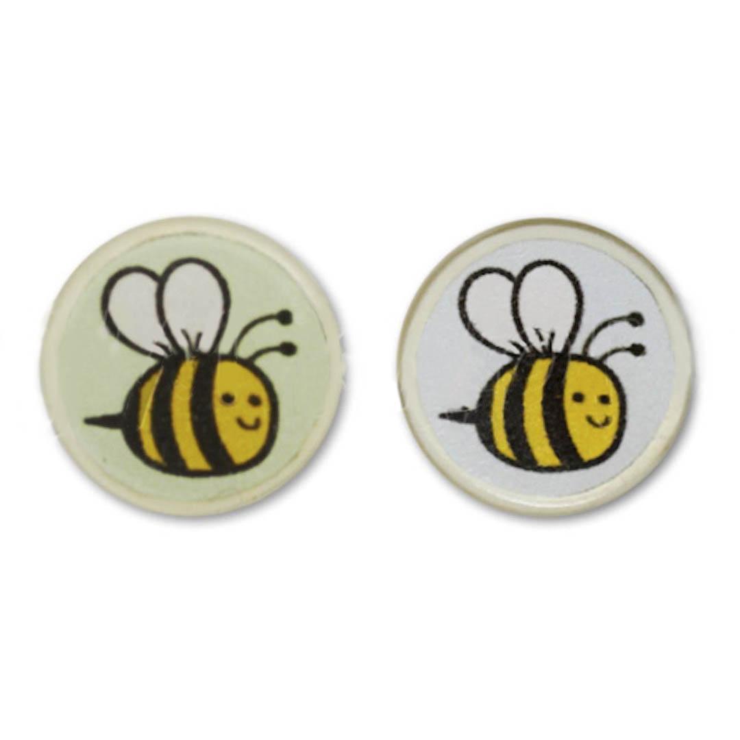 Jim Knopf bouton en résine abeille 18mm