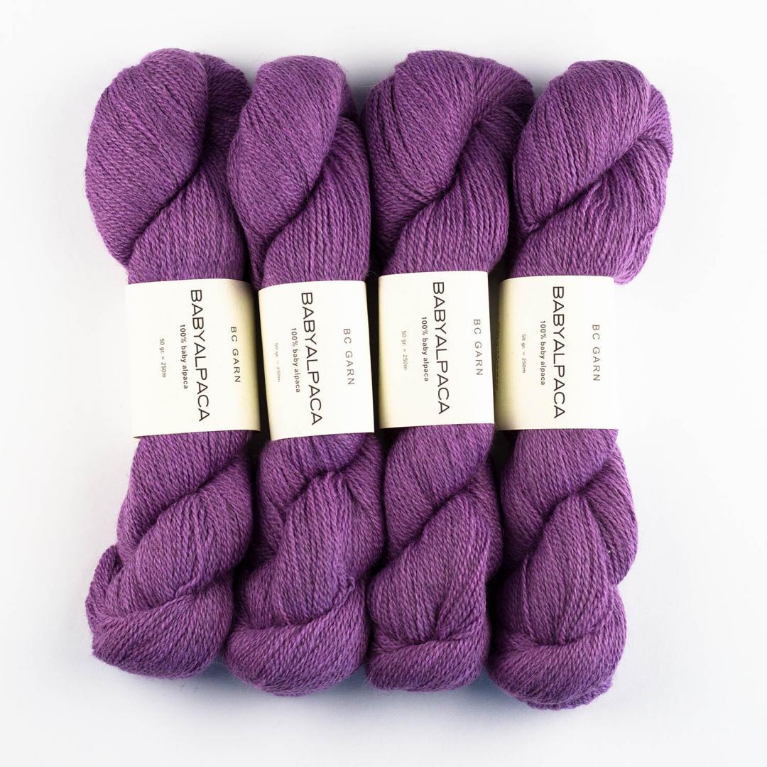 BC Garn Baby Alpaca 10/2 discontinued colors  flieder