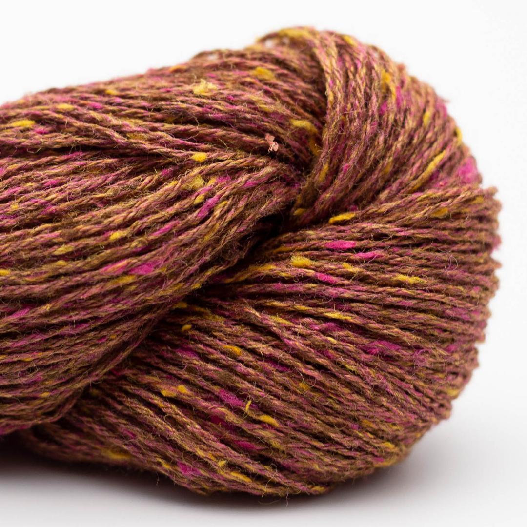 BC Garn Tussah Tweed brown-pink-phantasy