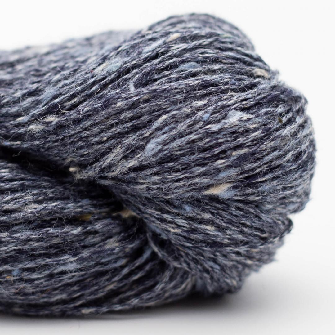 BC Garn Tussah Tweed grey blue