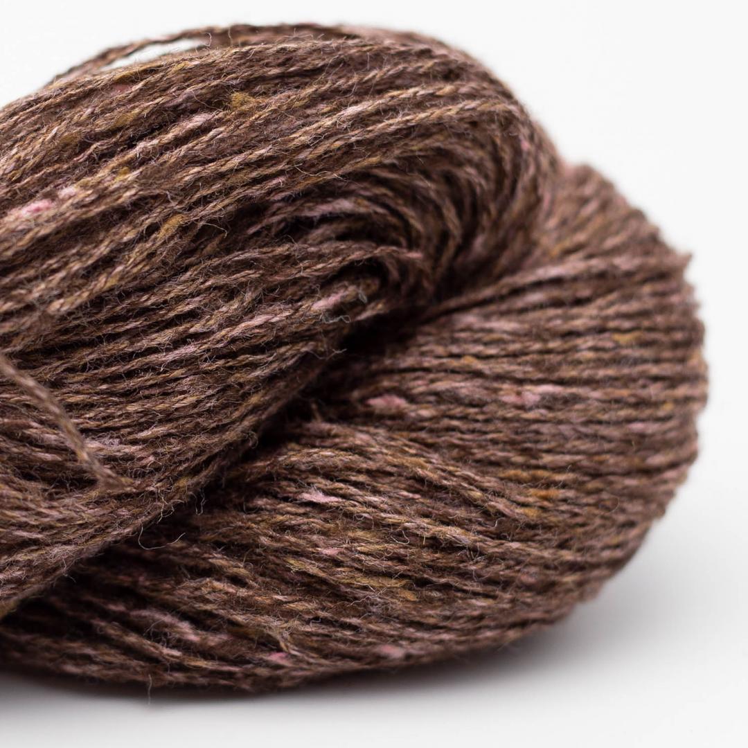BC Garn Tussah Tweed brown-rose-mix