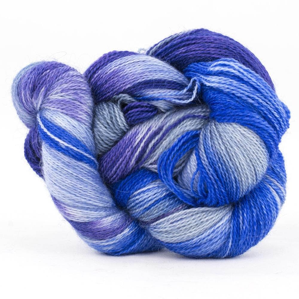 Cowgirl Blues mohair wool 2 ply lace gradient